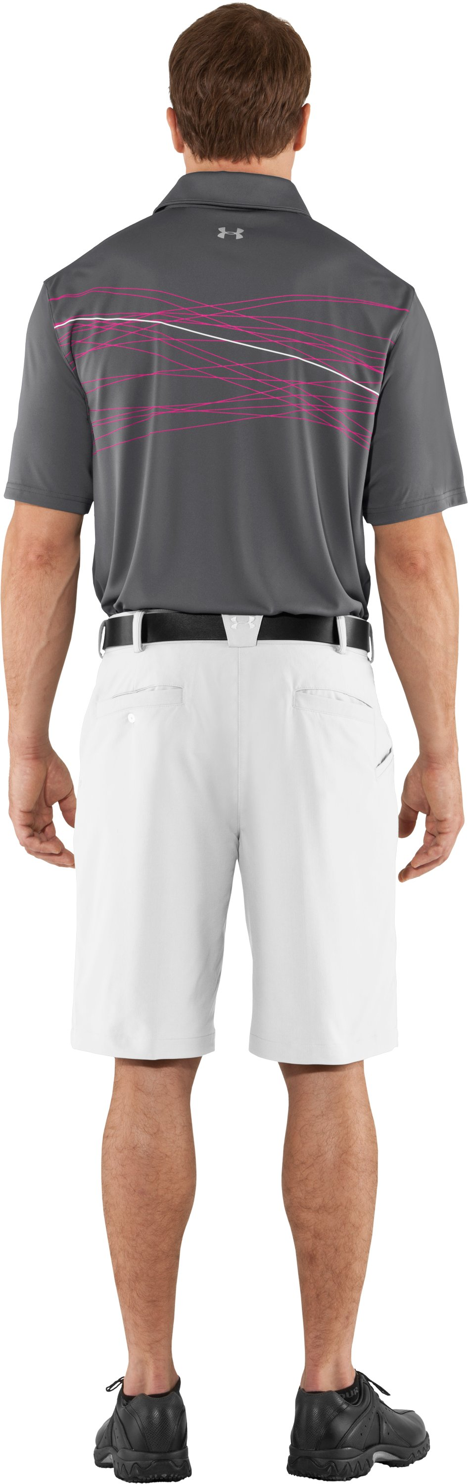 Men's UA Hammer Print Polo, Graphite, Back