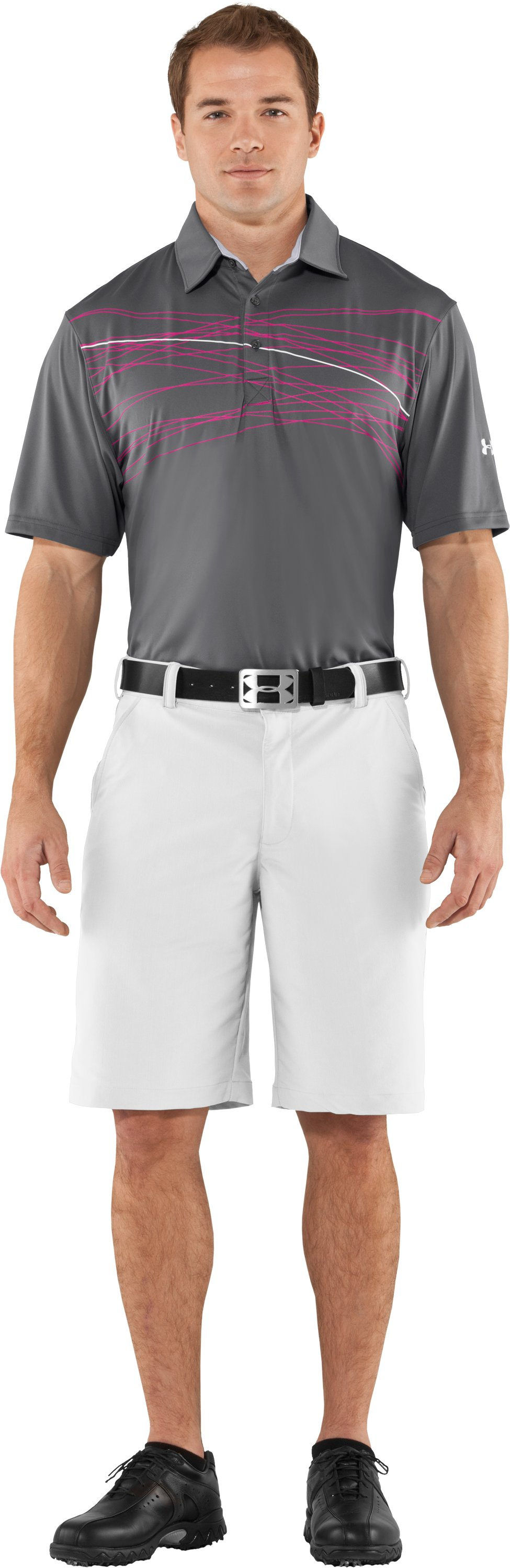 Men's UA Hammer Print Polo, Graphite