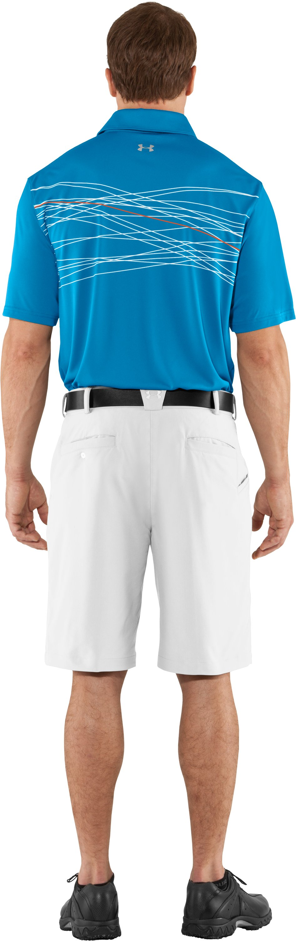 Men's UA Hammer Print Polo, Cortez, Back