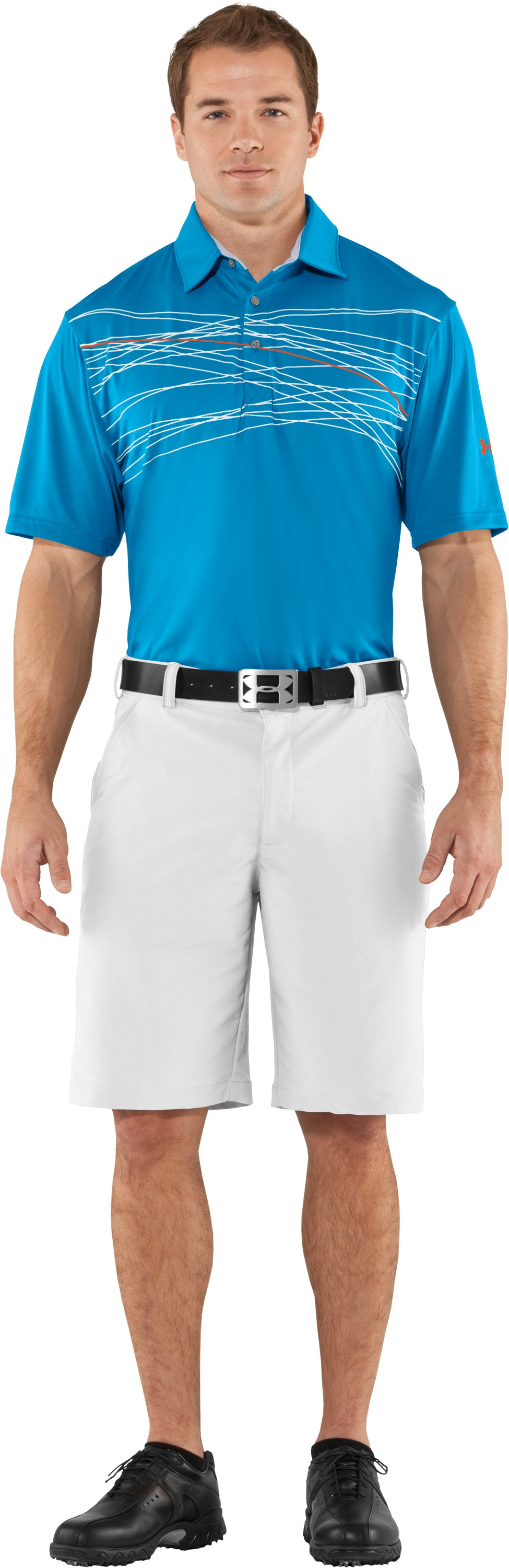 Men's UA Hammer Print Polo, Cortez, zoomed image