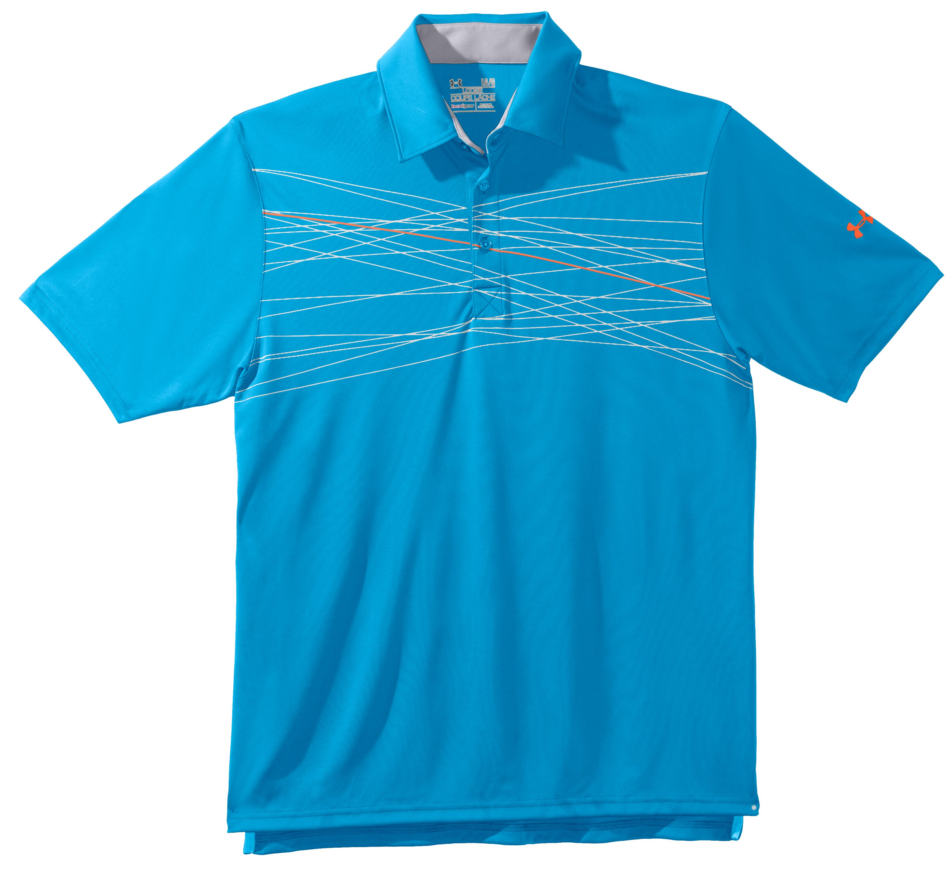 Men's UA Hammer Print Polo, Cortez, Laydown