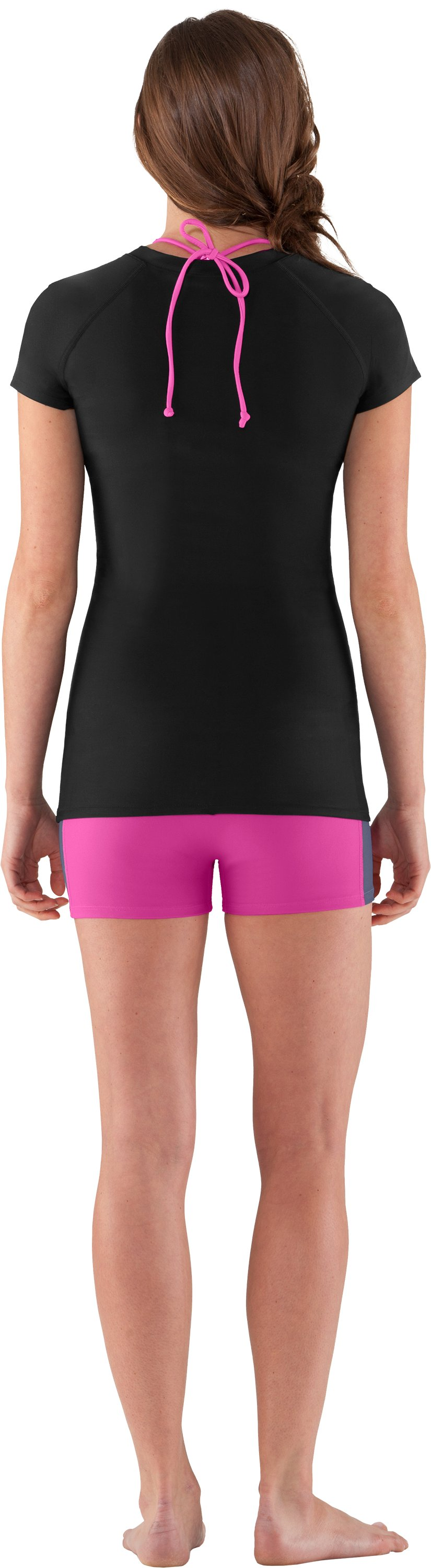 Women's UA coldblack® Rashguard, Black , Back
