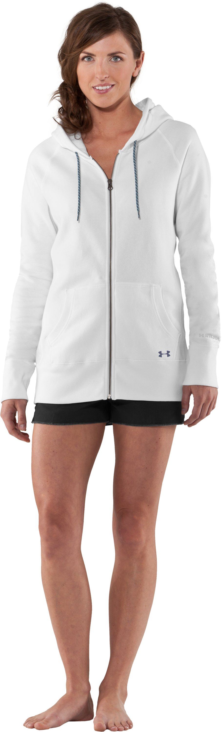 Women's UA Woodlands Hoodie, White, Front