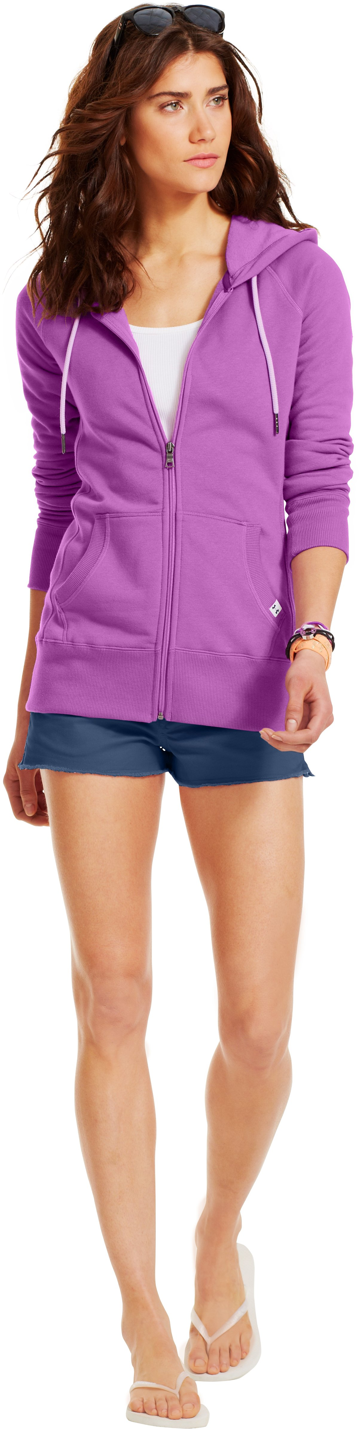Women's UA Woodlands Hoodie, EXOTIC BLOOM, Front
