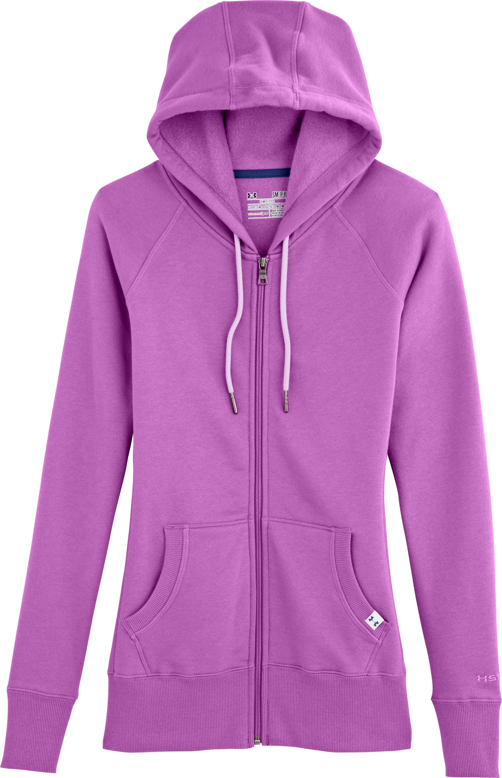 Women's UA Woodlands Hoodie, EXOTIC BLOOM, Laydown