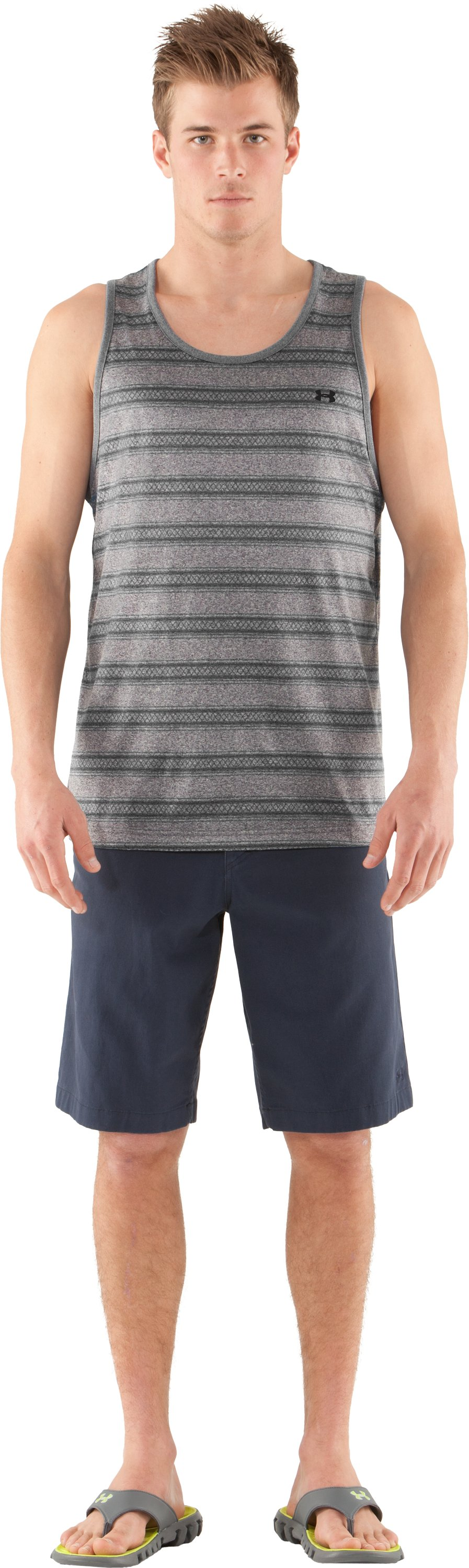 Men's UA Tech™ Push Tank, BOULDER, Front