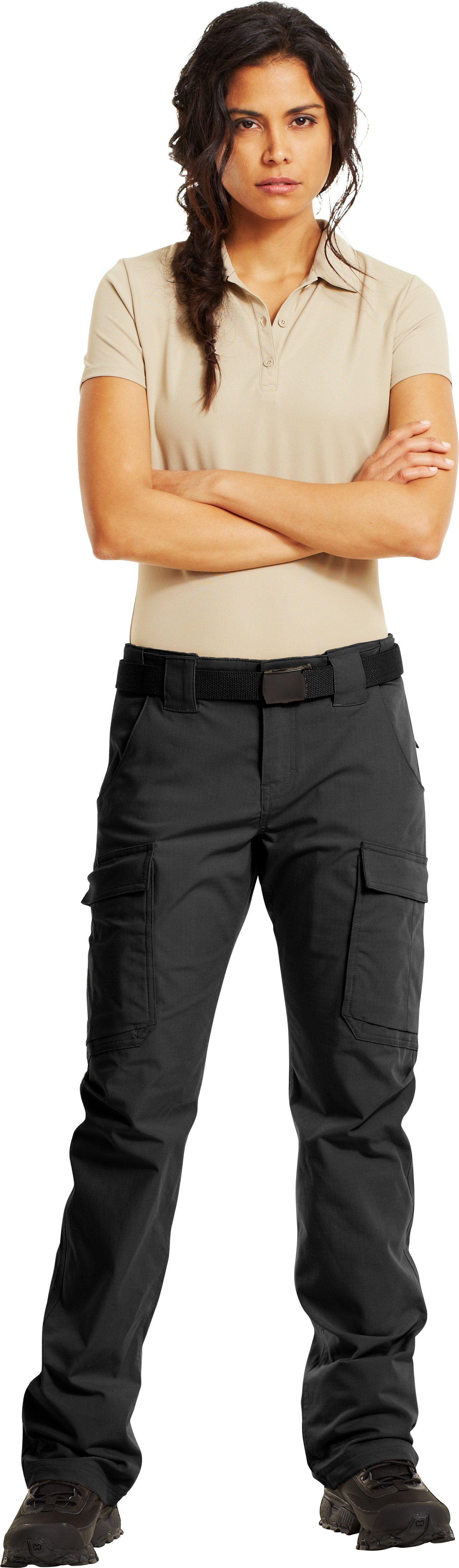 Women's Tactical Duty Pants, Black , Front