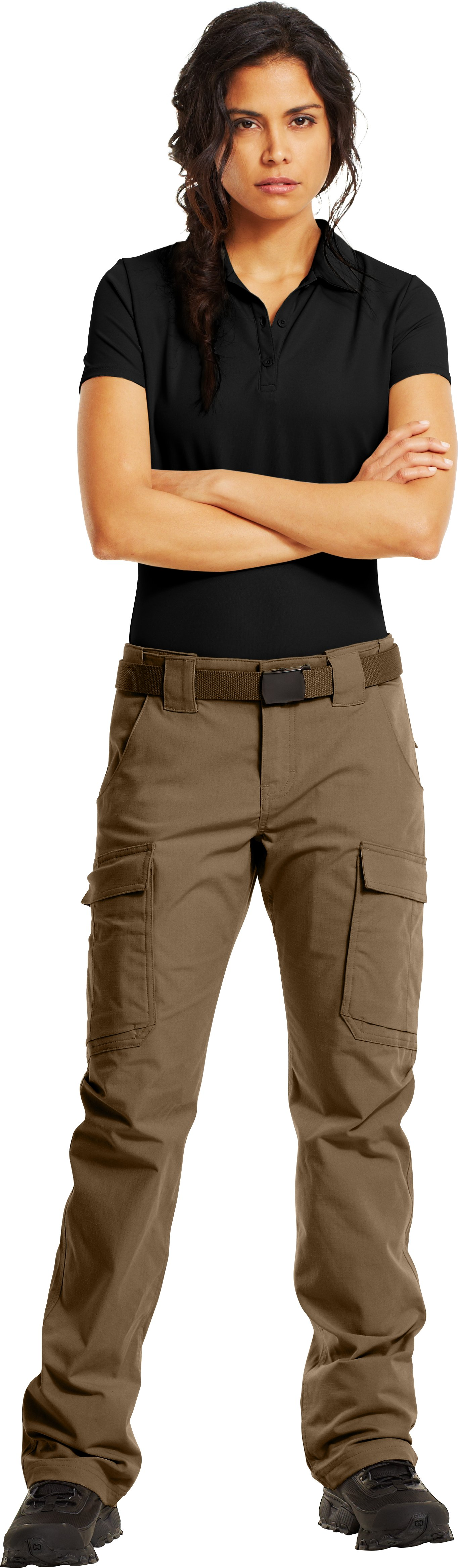 Women's Tactical Duty Pants, Coyote Brown, Front