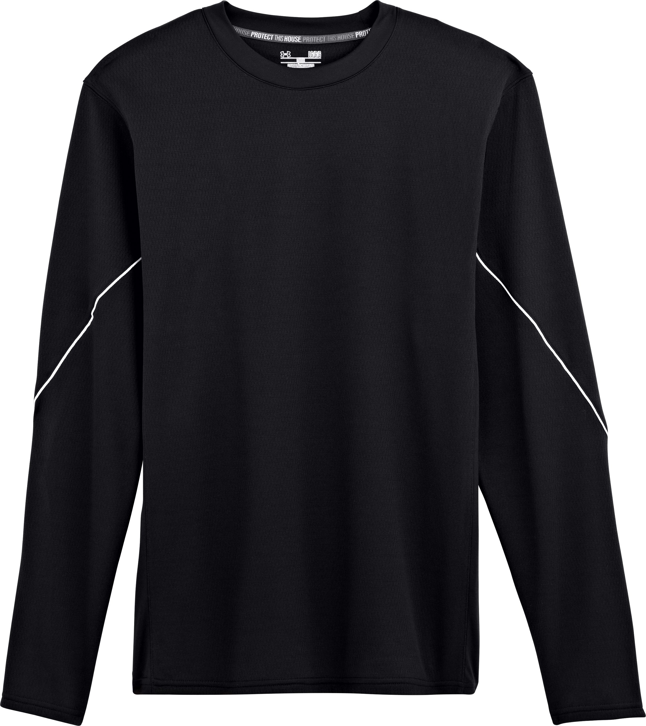 Men's UA Gamer Fleece, Black , Laydown