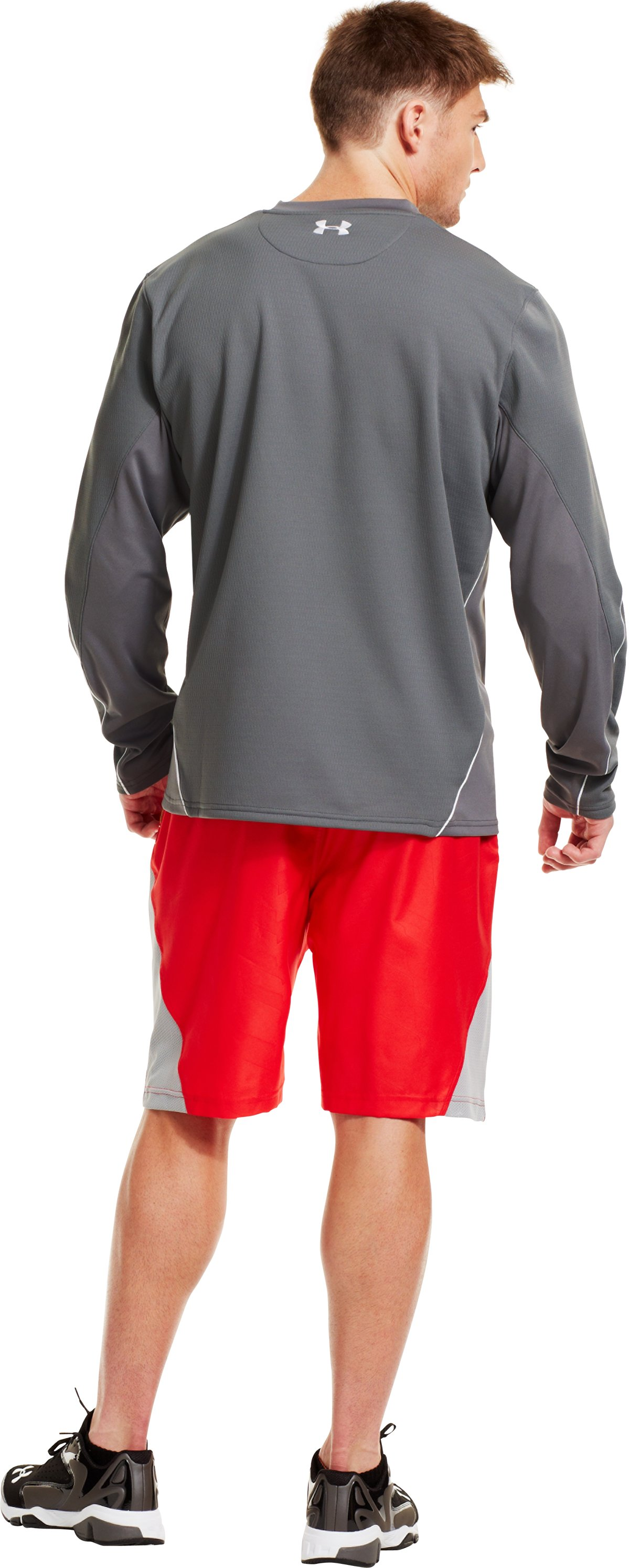 Men's UA Gamer Fleece, Graphite, Back