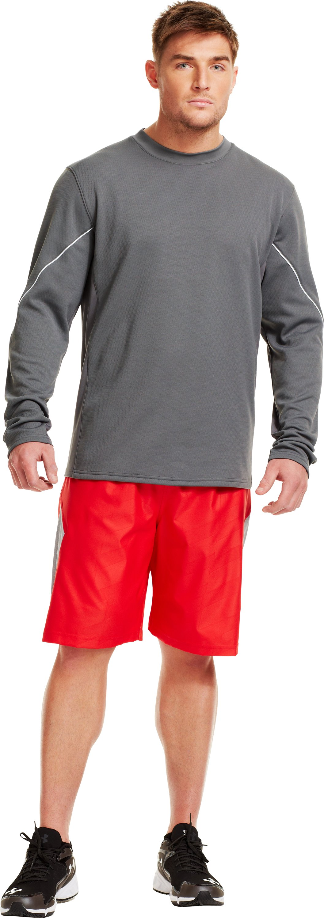 Men's UA Gamer Fleece, Graphite, Front