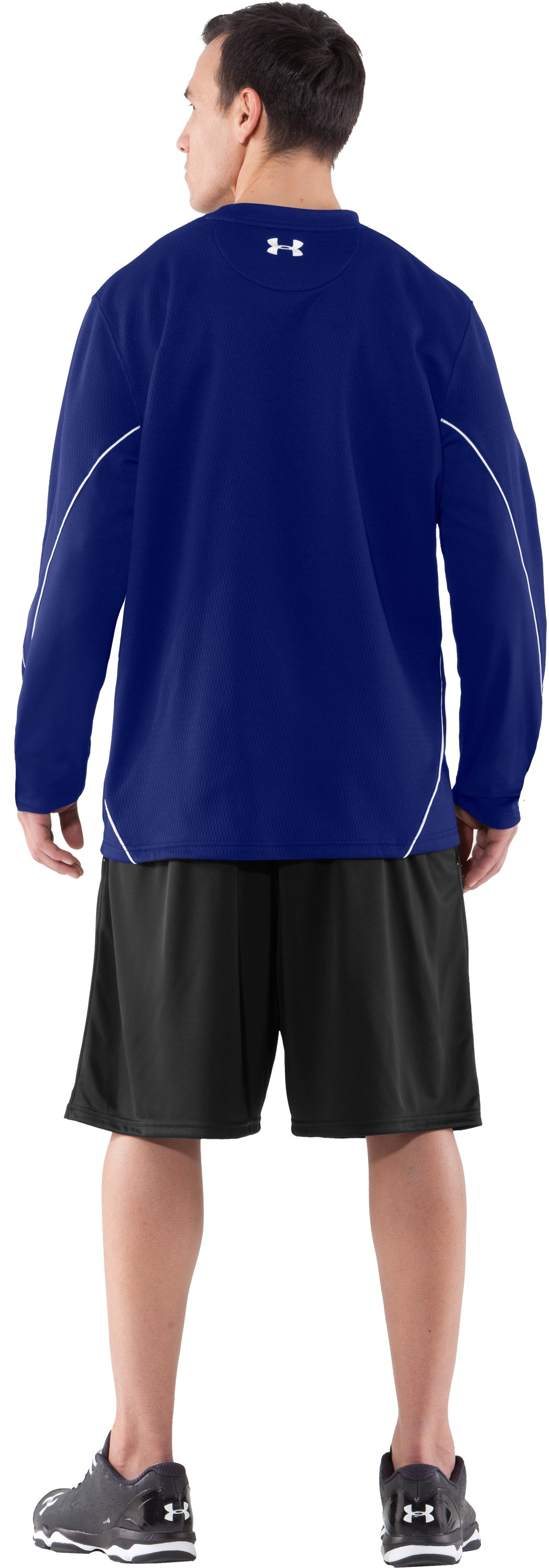 Men's UA Gamer Fleece, Royal, Back