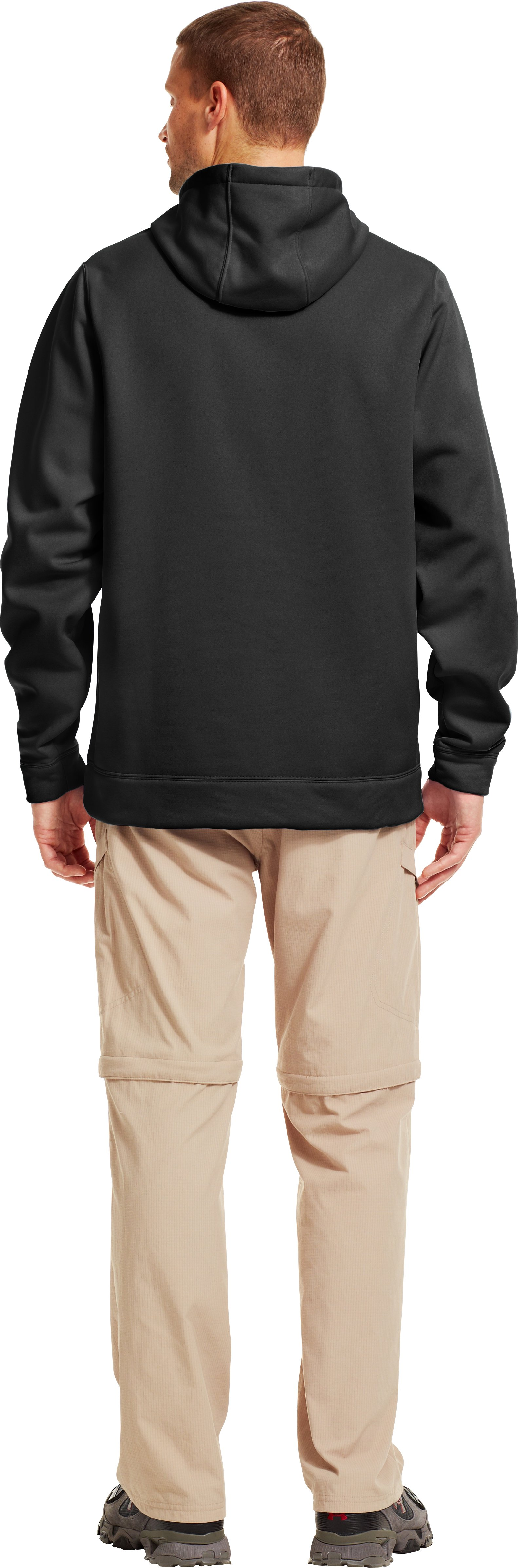 Men's UA Storm Fish Hook Hoodie, Black , Back