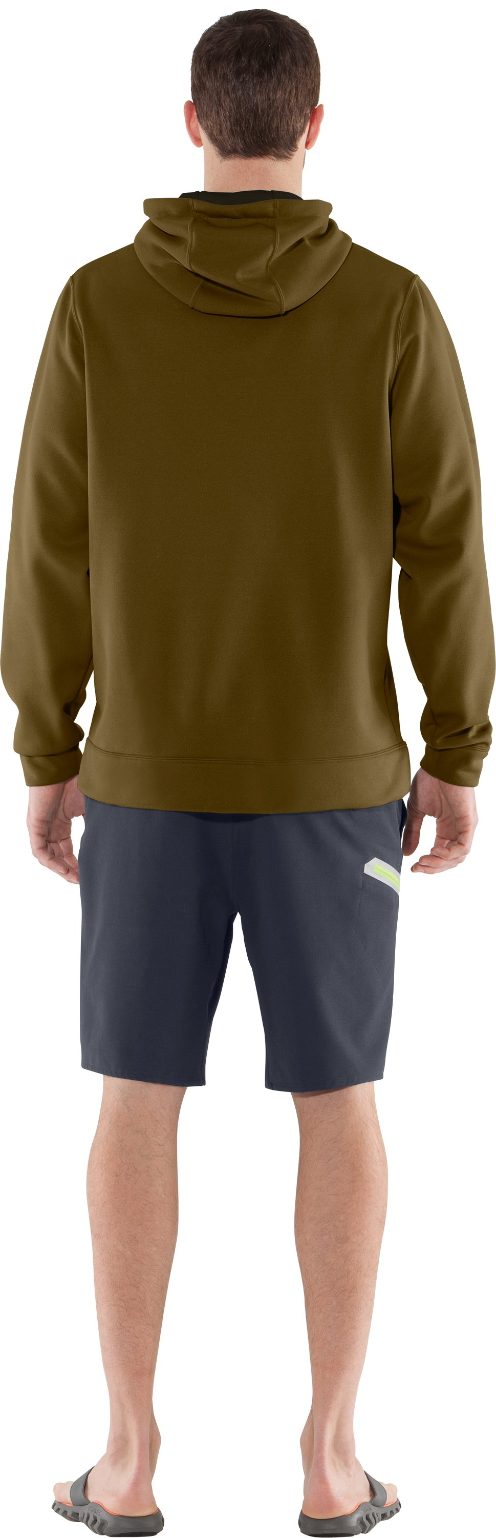 Men's UA Storm Fish Hook Hoodie, Drab, Back