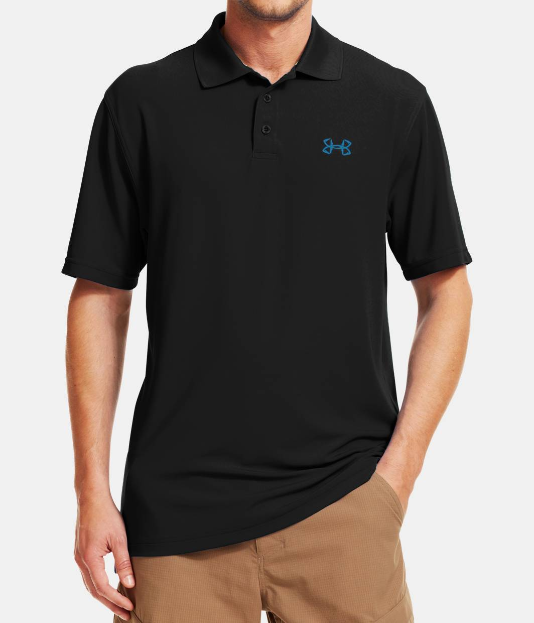 Men s ua performance fish hook polo under armour us for Walmart fishing shirts