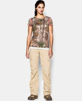 Women's HeatGear® EVO Camo Short Sleeve  1 Color $29.99