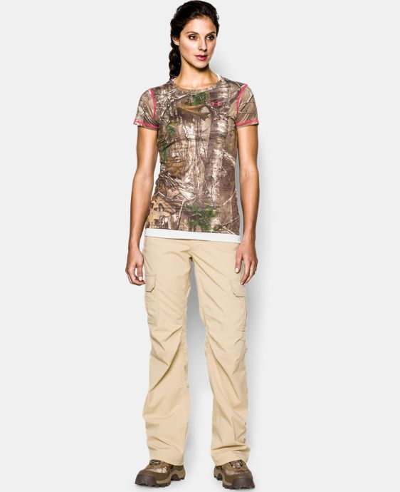 Women's HeatGear® EVO Camo Short Sleeve  1 Color $17.99