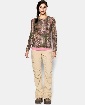 New to Outlet Women's HeatGear® EVO Camo Long Sleeve  1 Color $33.99