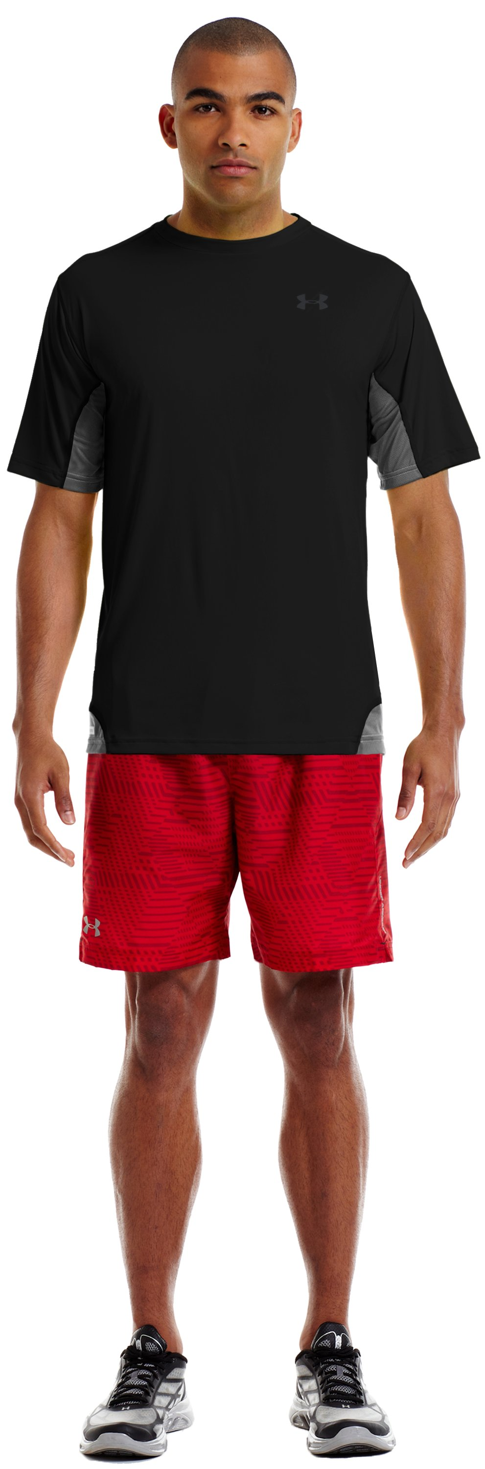 "Men's UA Escape 7"" Printed Woven Shorts, Red"