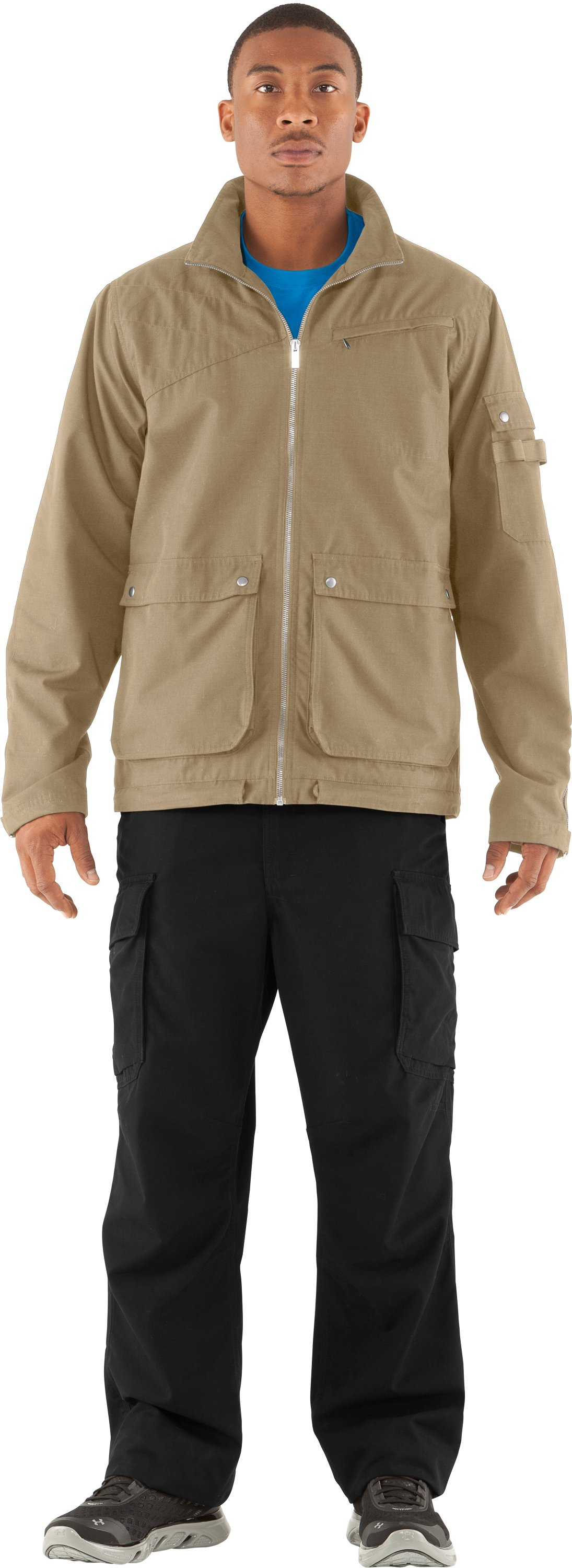 Men's UA Ripstop Bomber Jacket, Light Khaki