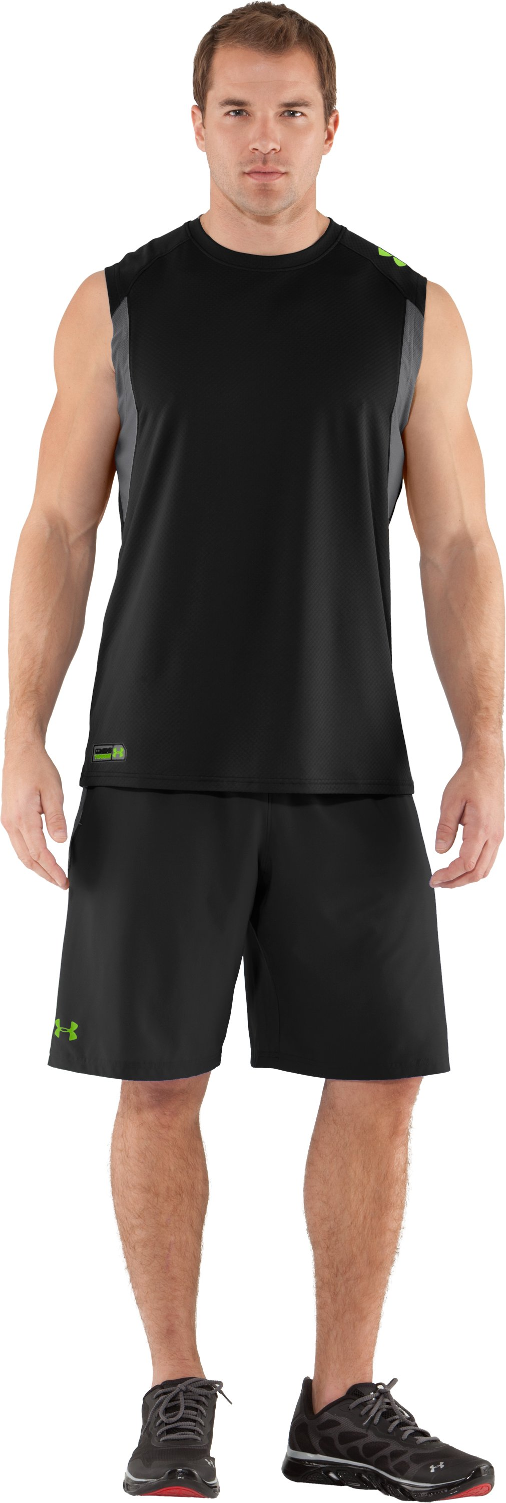 Men's UA Combine® Training Velocity Sleeveless T-Shirt, Black , Front