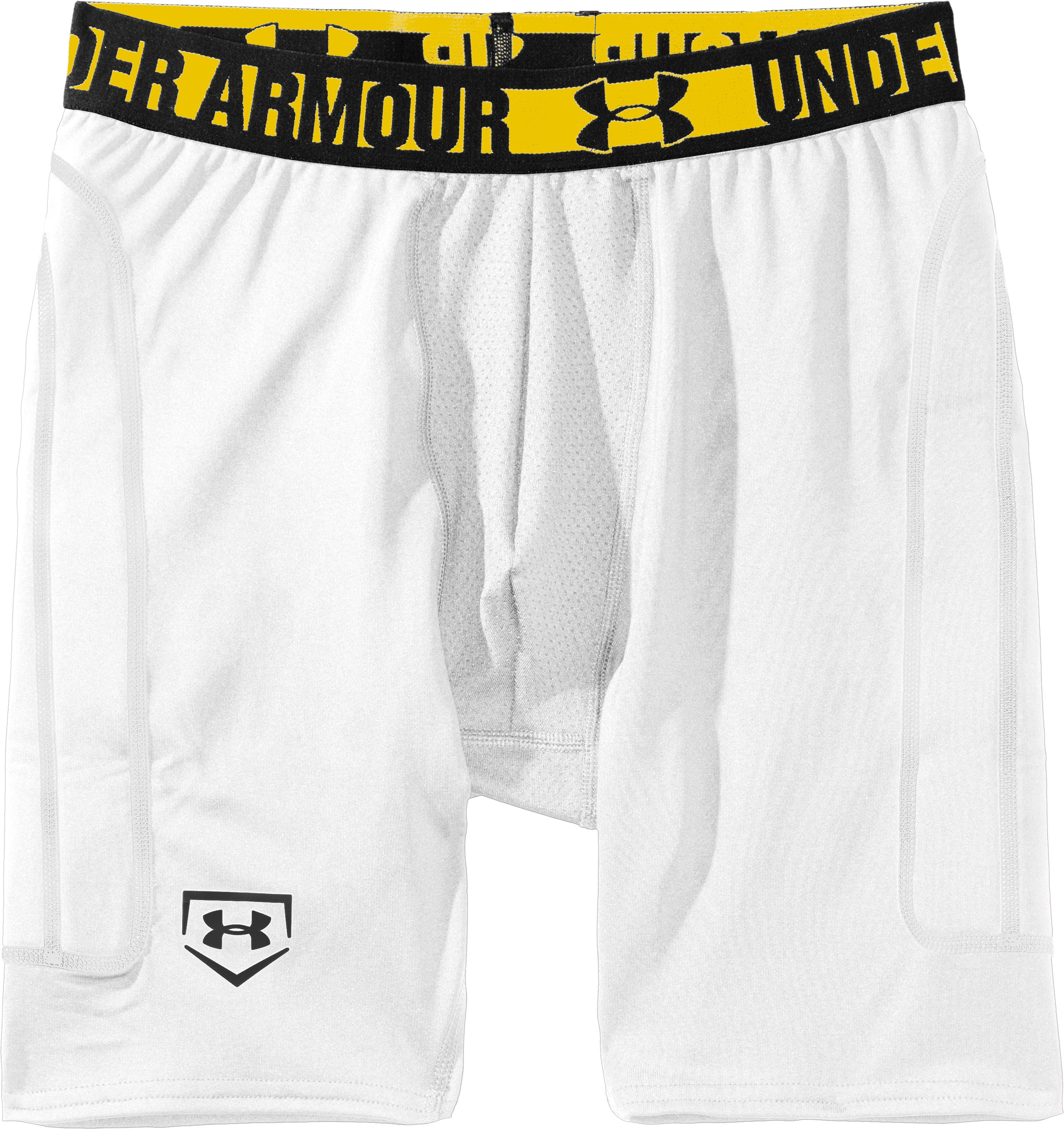 Boys' UA Break Over Baseball Slider, White, Laydown