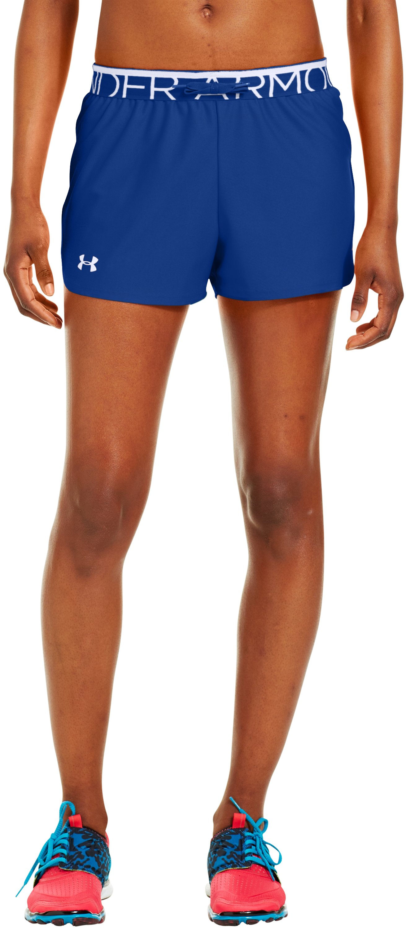 Women's UA Play Up Shorts, BLU-AWAY, undefined