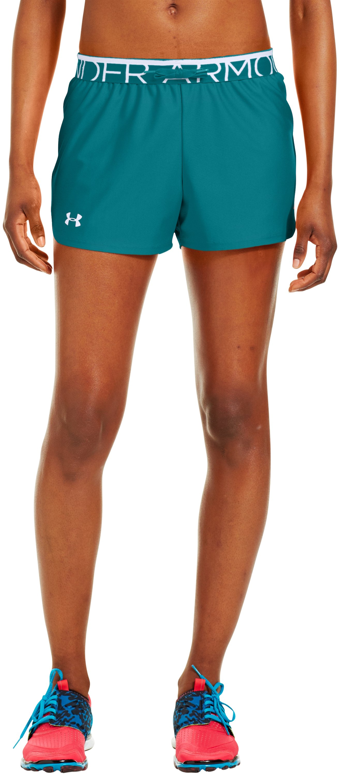 Women's UA Play Up Shorts, CERULEAN