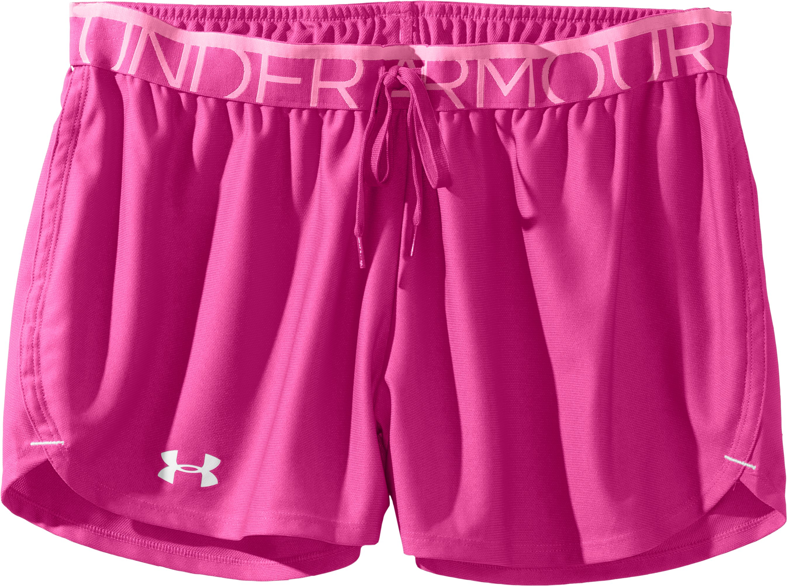 Women's UA Play Up Shorts, Playful, Laydown