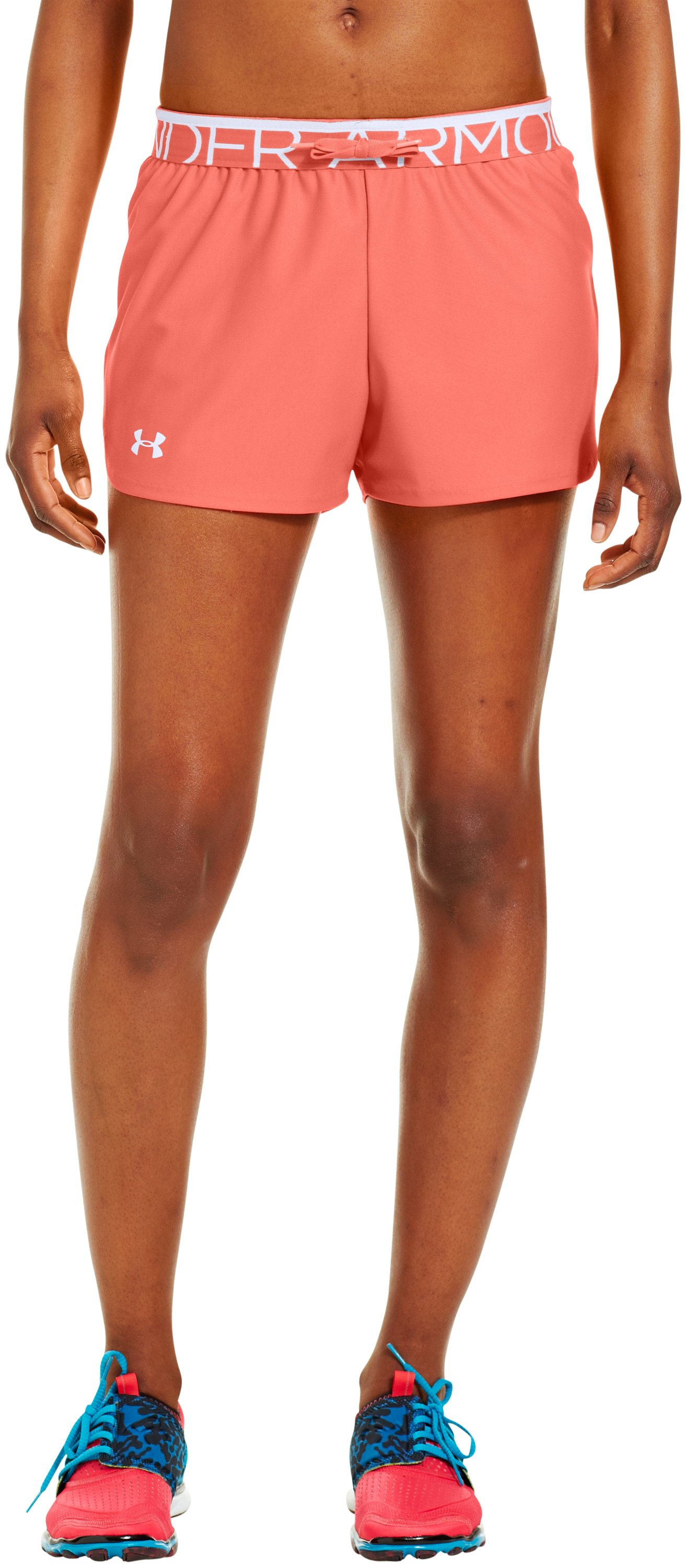 Women's UA Play Up Shorts, ELECTRIC TANGERINE