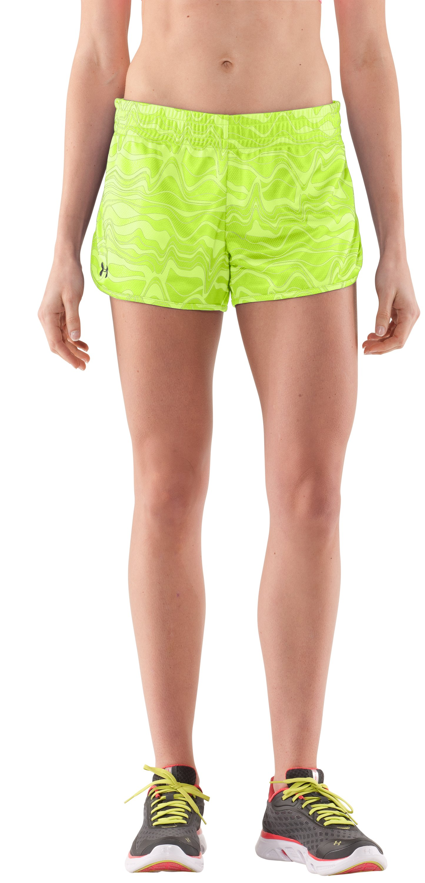 Women's UA Tidal Swell Shorts, High-Vis Yellow, zoomed image