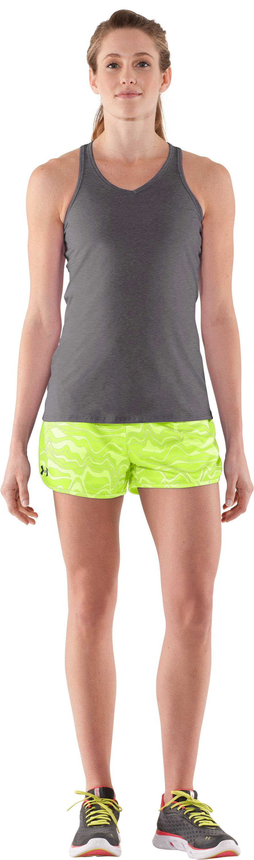 Women's UA Tidal Swell Shorts, High-Vis Yellow, Front