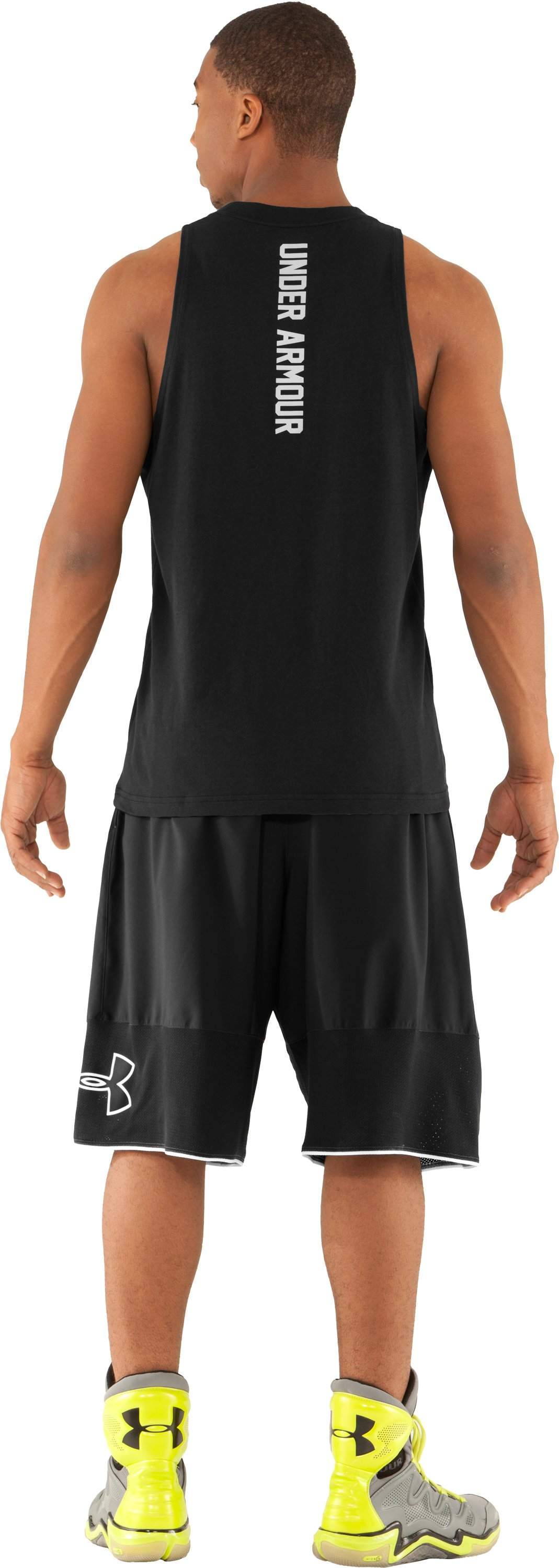 Men's UA Rickter Basketball Shorts, Black , Back