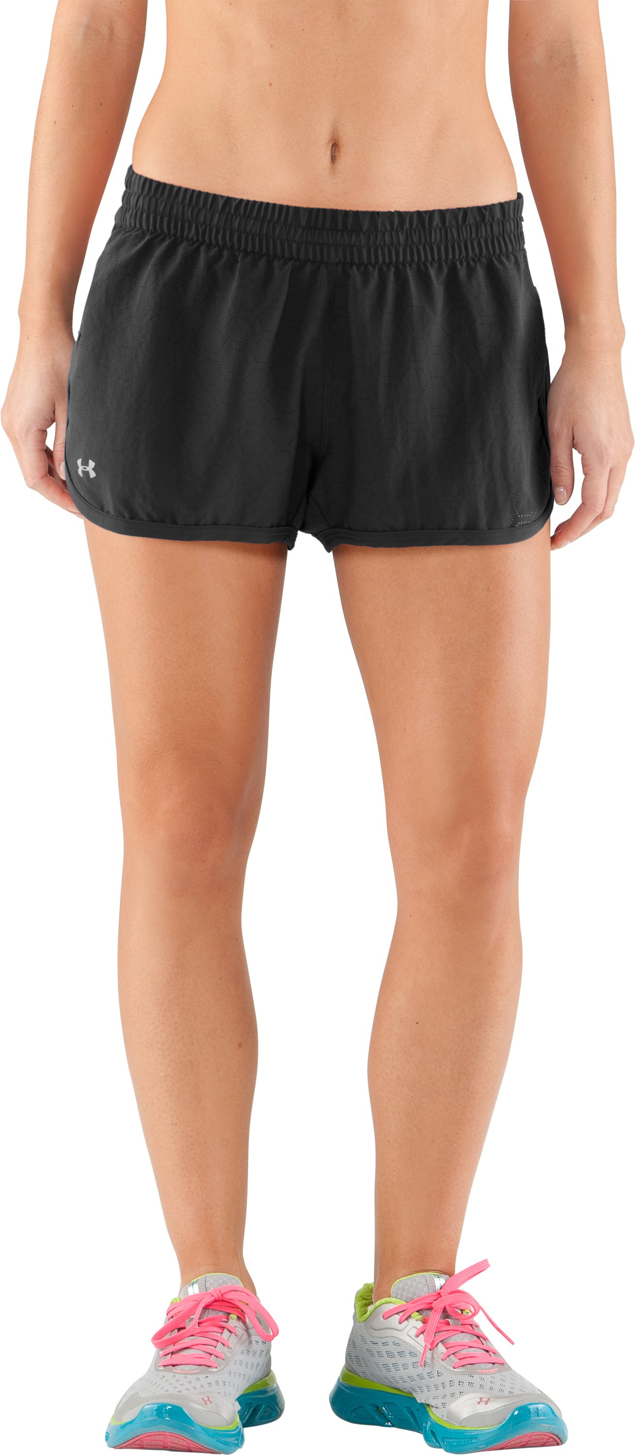 Women's Perforated UA Great Escape Shorts II, Black , undefined