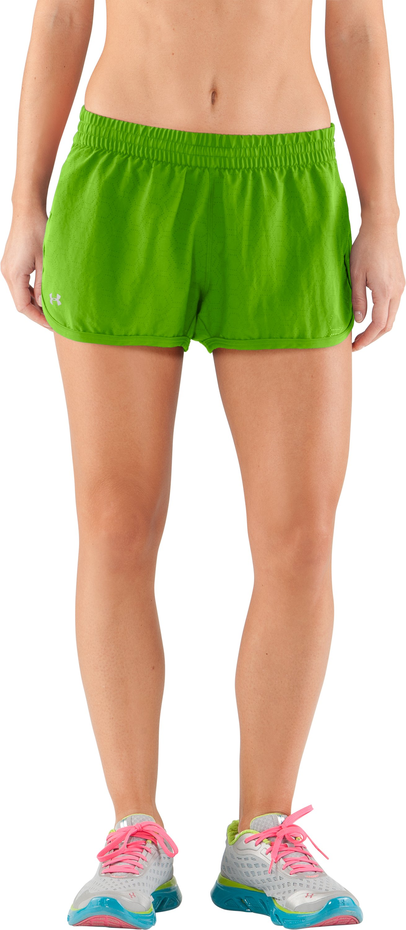 Women's Perforated UA Great Escape Shorts II, Poison, undefined