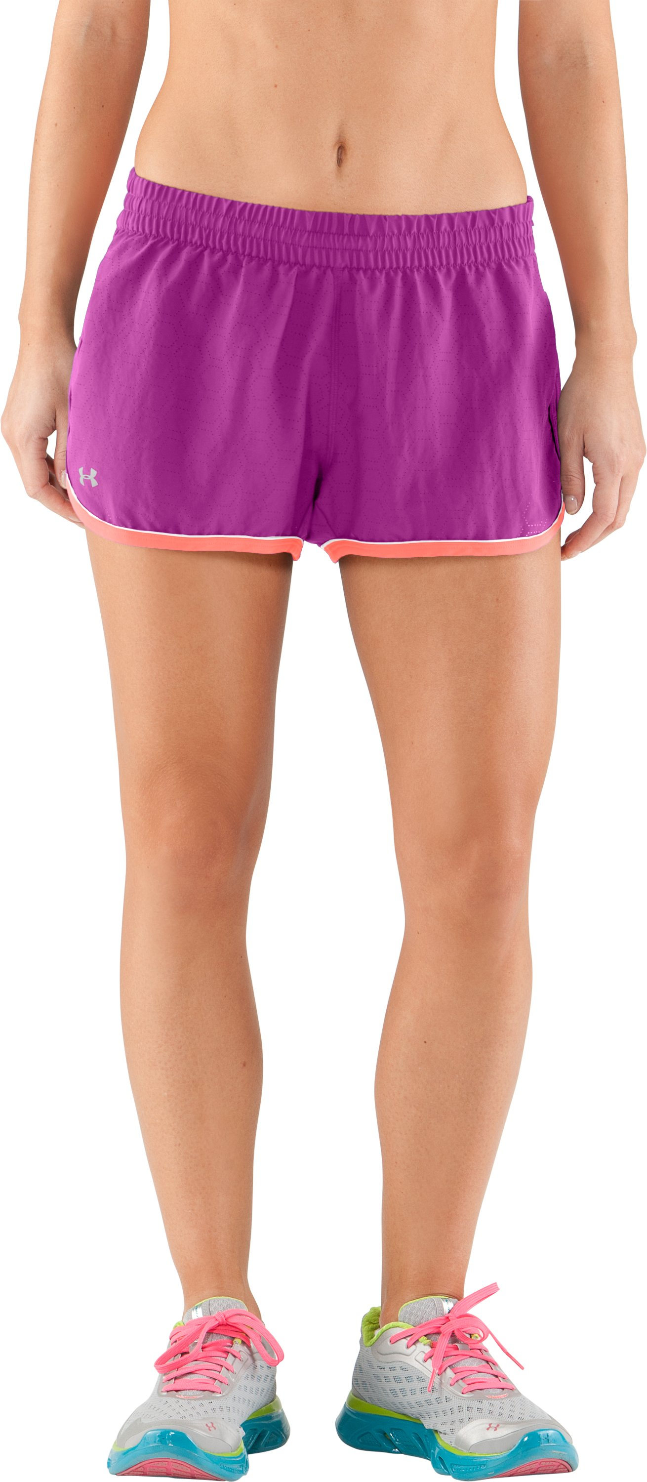 Women's Perforated UA Great Escape Shorts II, STROBE, zoomed image