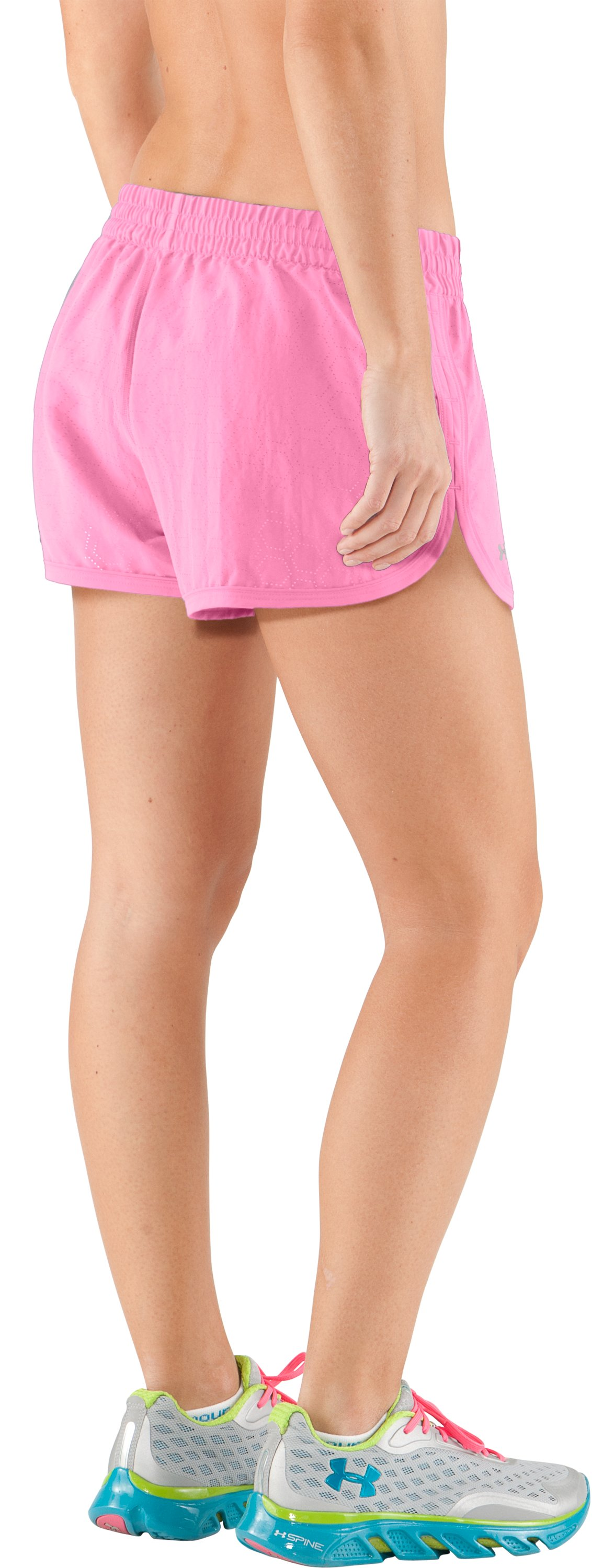 Women's Perforated UA Great Escape Shorts II, Fluo Pink
