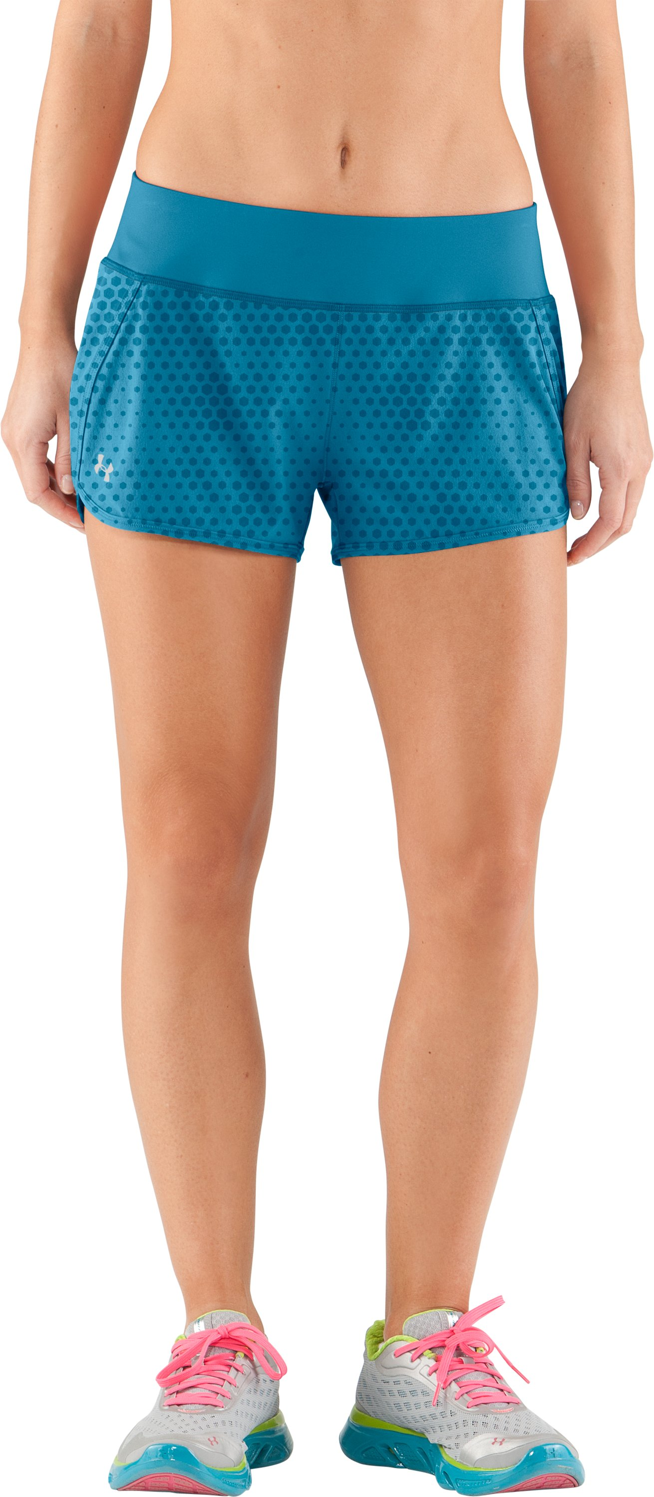 Women's UA Get Set Go Printed Shorts, Deceit,