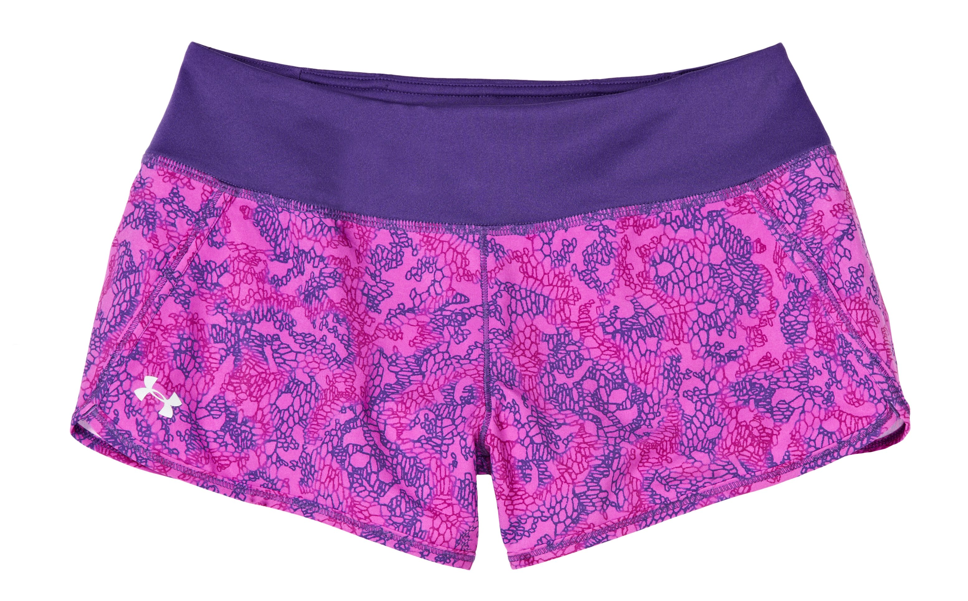 Women's UA Get Set Go Printed Shorts, Purple Rain, Laydown