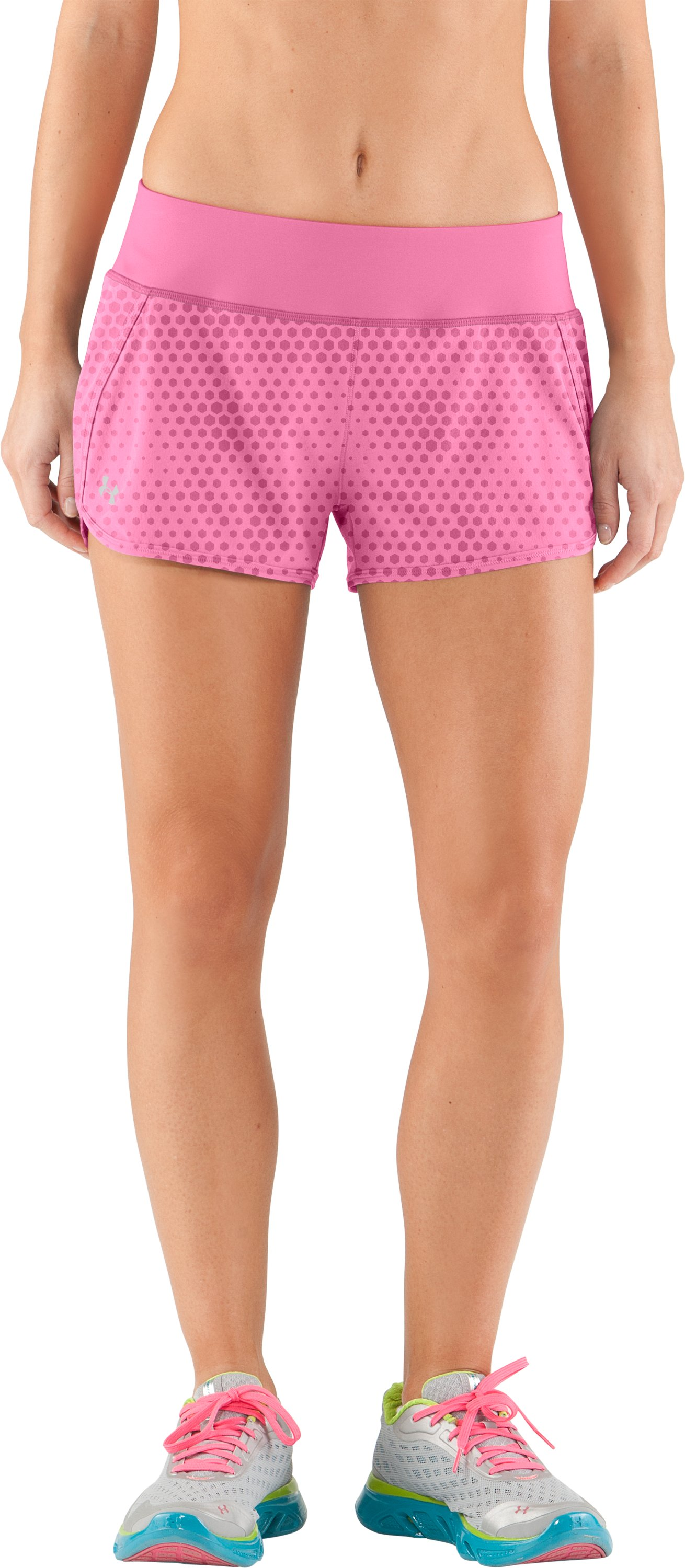 Women's UA Get Set Go Printed Shorts, Fluo Pink