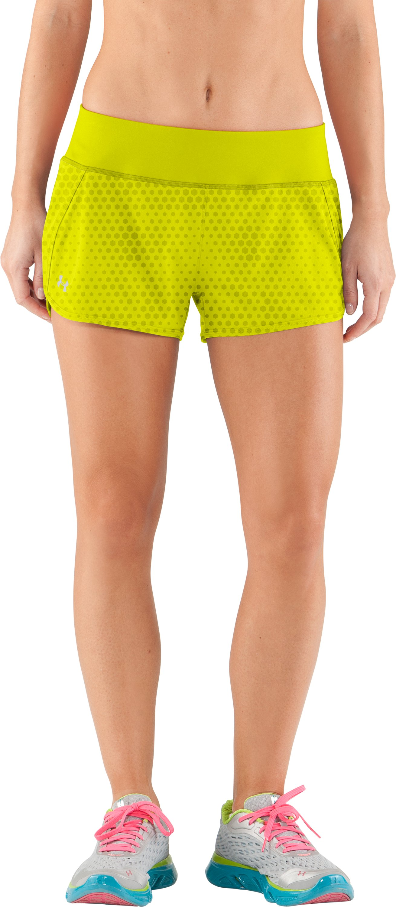 Women's UA Get Set Go Printed Shorts, High-Vis Yellow