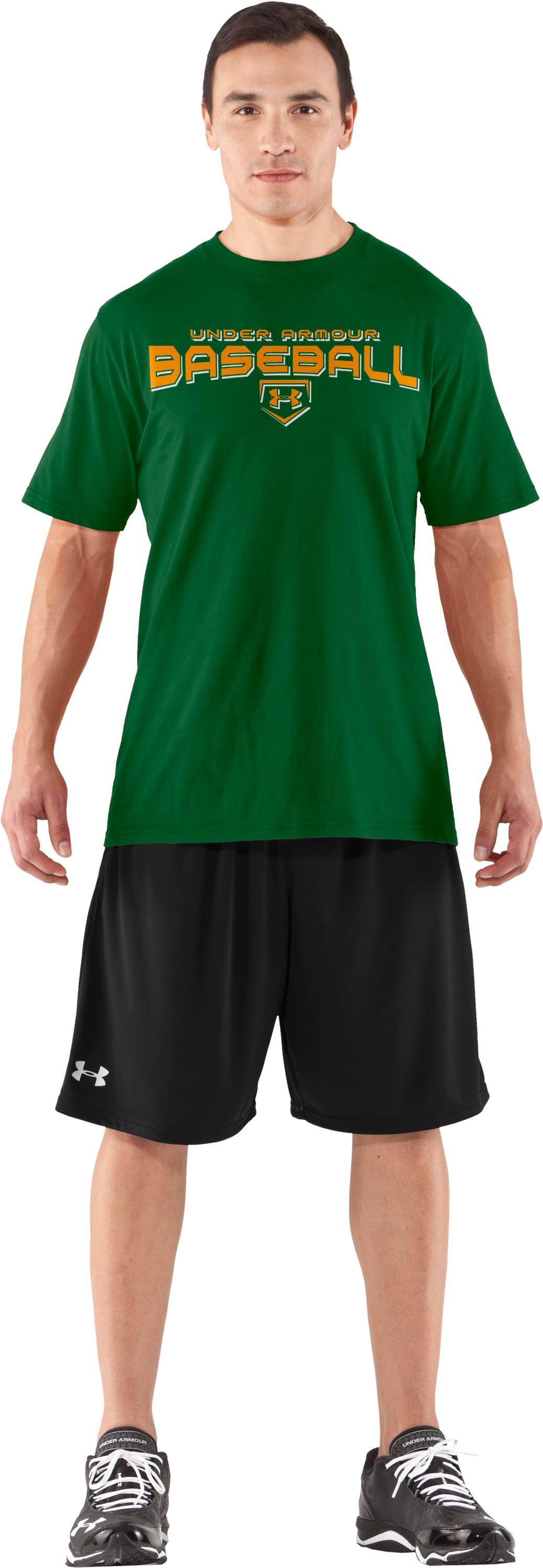Men's UA Dugout T-Shirt, Classic Green, Front