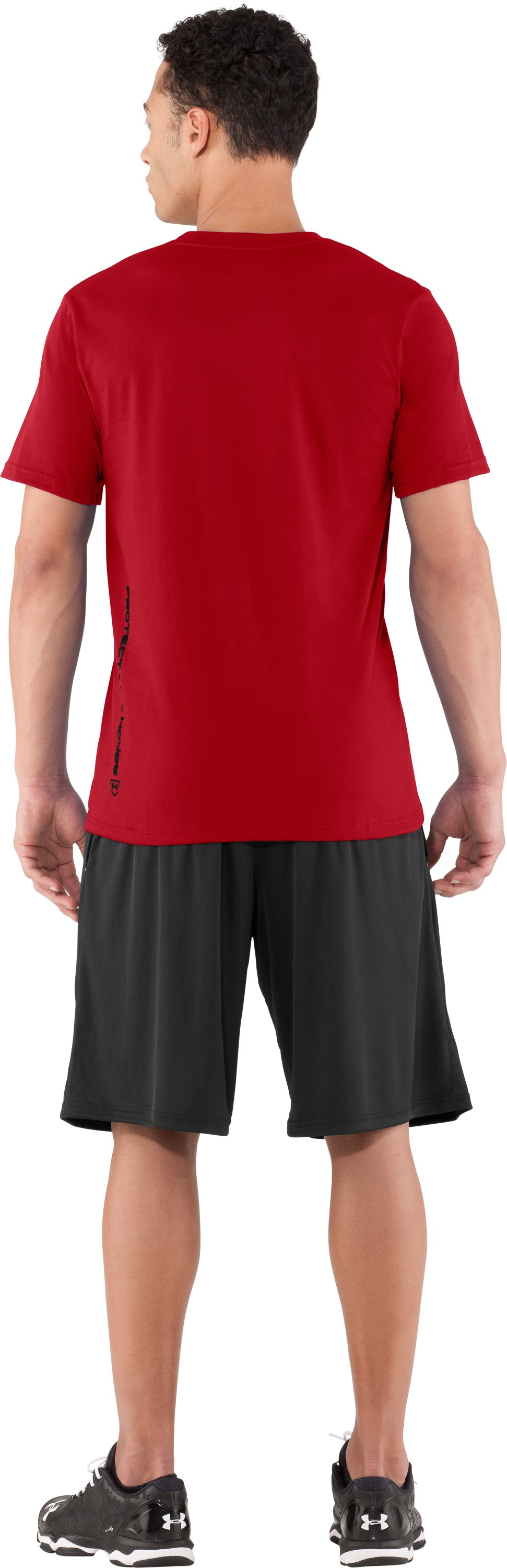 Men's UA Dugout T-Shirt, Red, Back