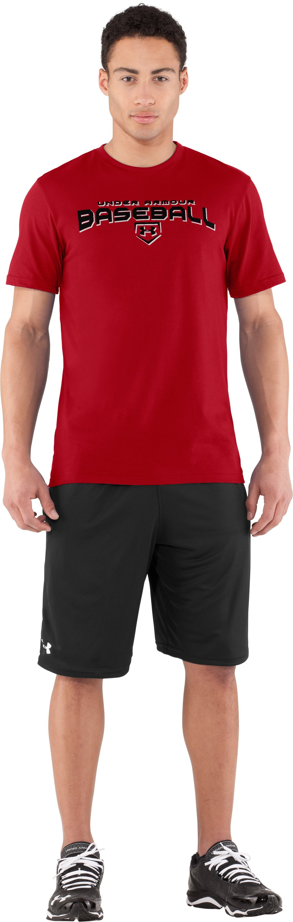 Men's UA Dugout T-Shirt, Red, zoomed image
