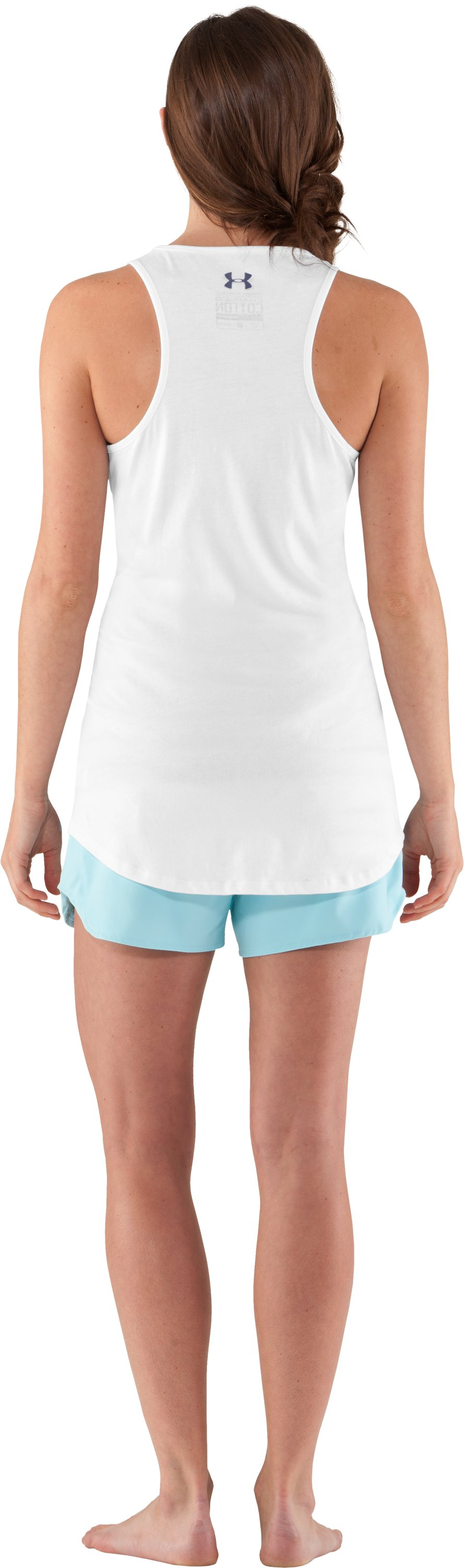 Women's UA Line Up Tank, White, Back