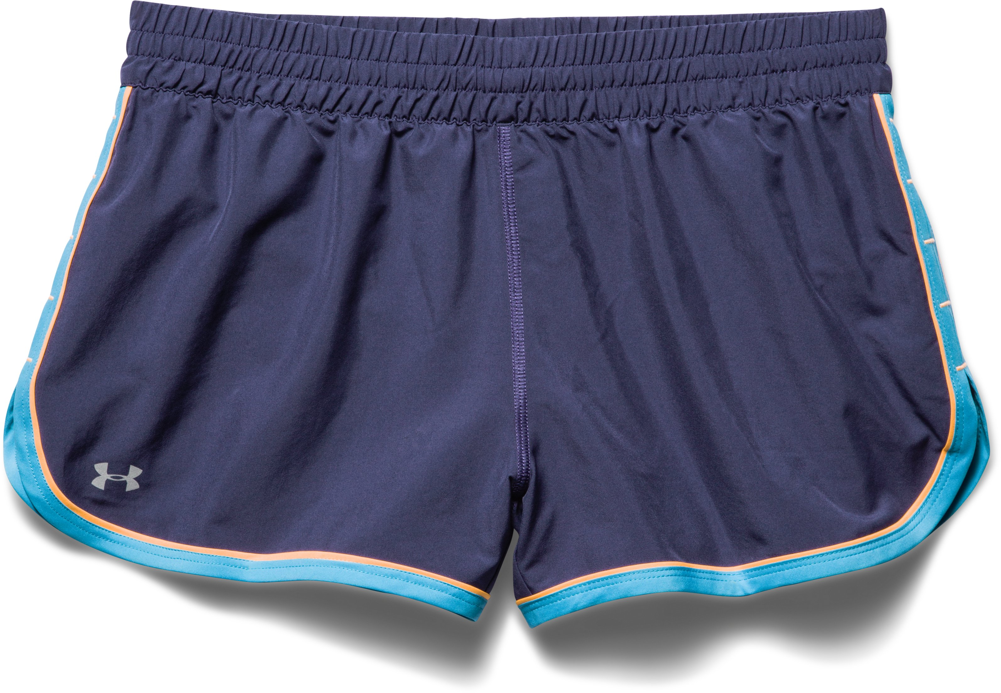 Women's UA Great Escape Shorts II, FADED INK, Laydown