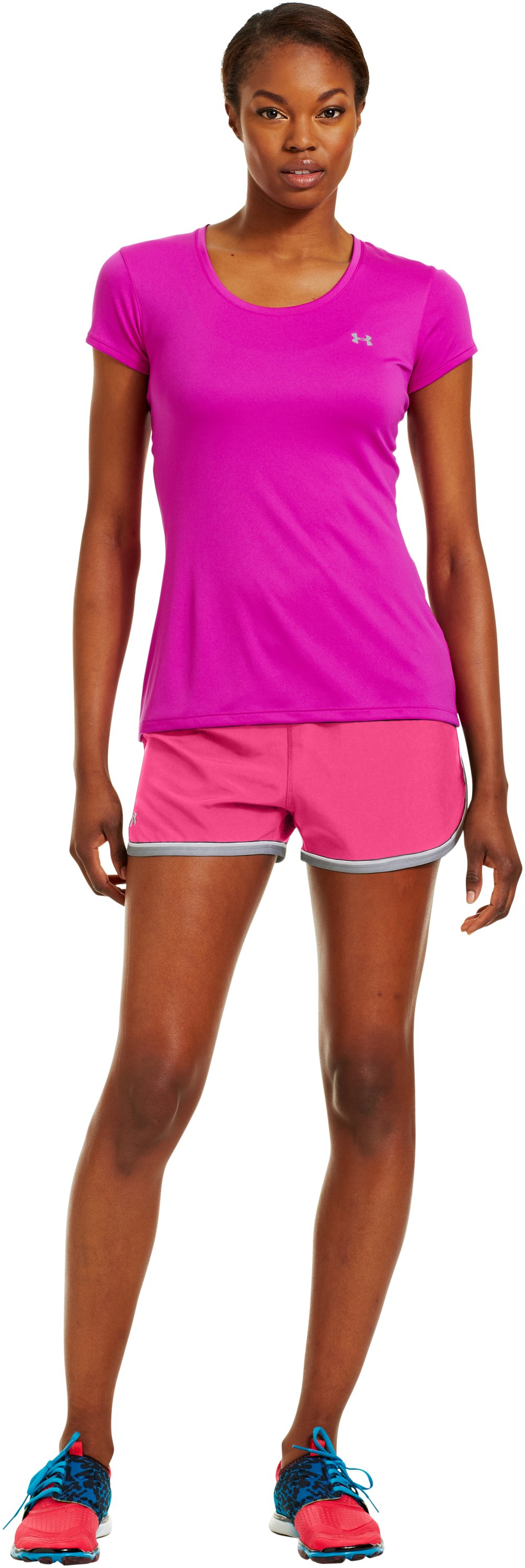 Women's UA Great Escape Shorts II, Cerise, Front