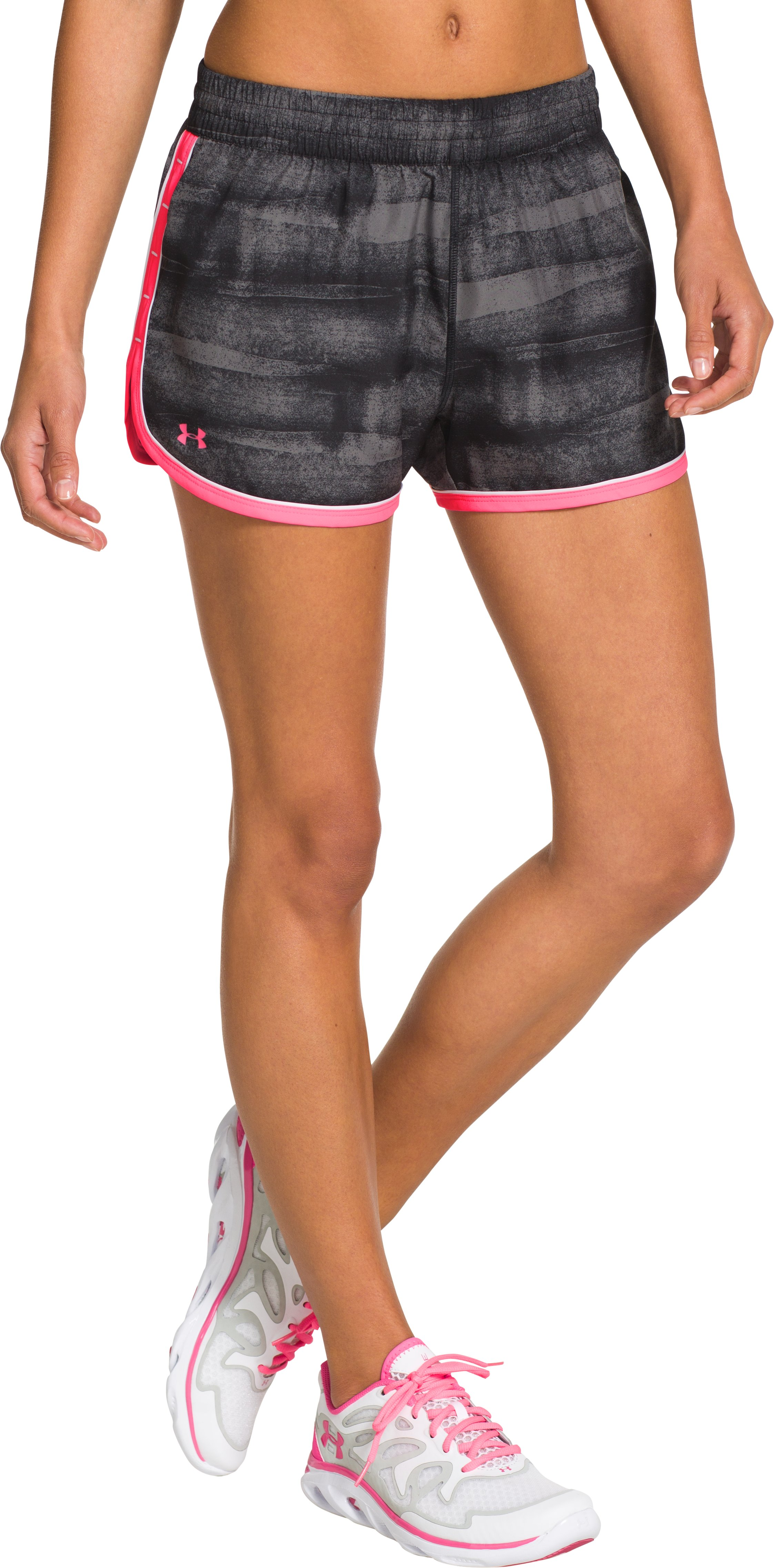 Women's UA Great Escape Printed Shorts II, Black