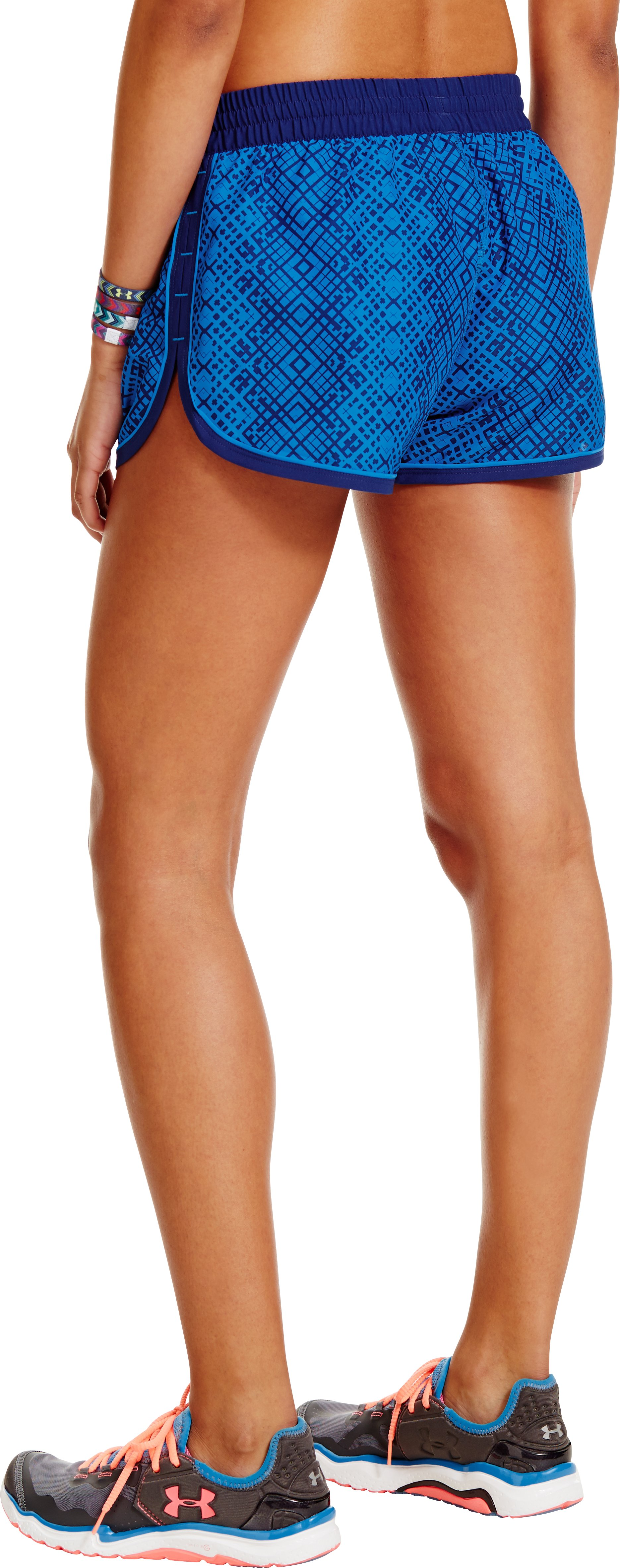 Women's UA Great Escape Printed Shorts II, ELECTRIC BLUE