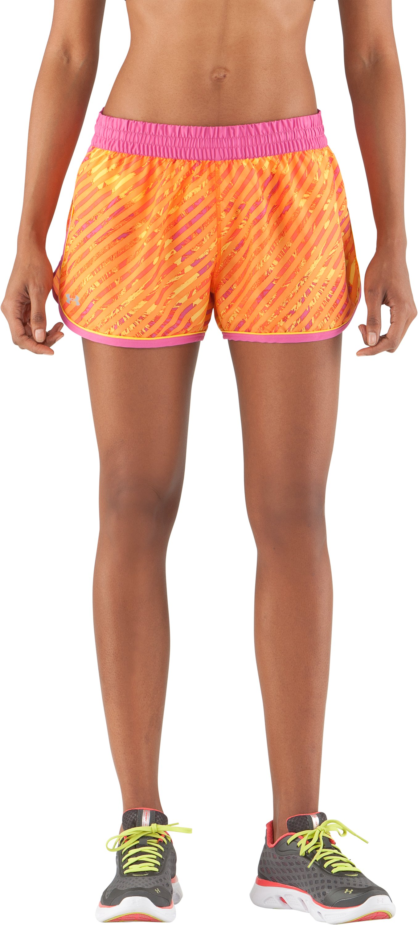 Women's UA Great Escape Printed Shorts II, Maize, undefined